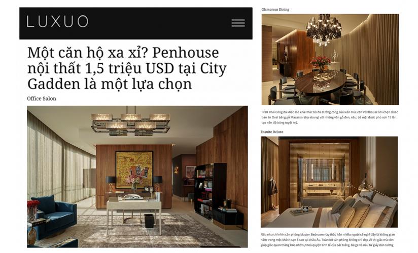 Một căn hộ xa xỉ? Penthouse nội thất 1,5 triệu USD tại City Garden là một lựa chọn