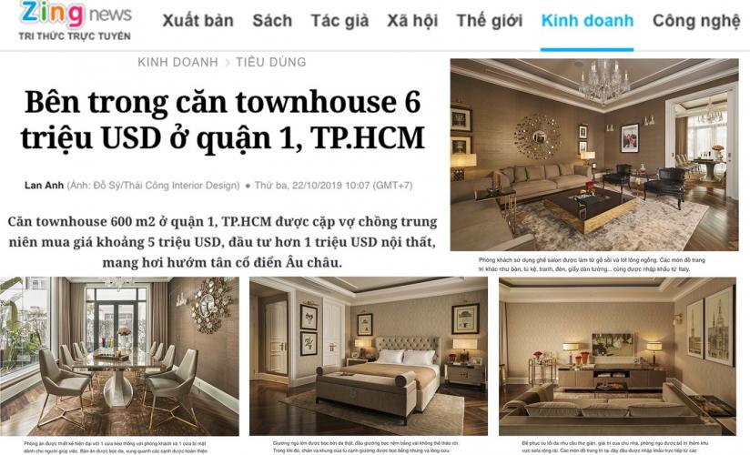 Bên trong căn townhouse 6 triệu USD ở quận 1, TP.HCM