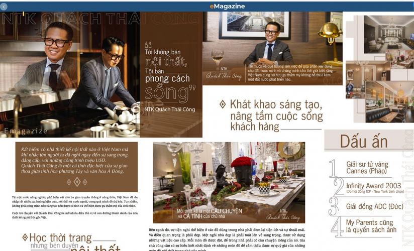 """NTK Quách Thái Công: """"Tôi không bán nội thất, tôi bán phong cách sống."""""""
