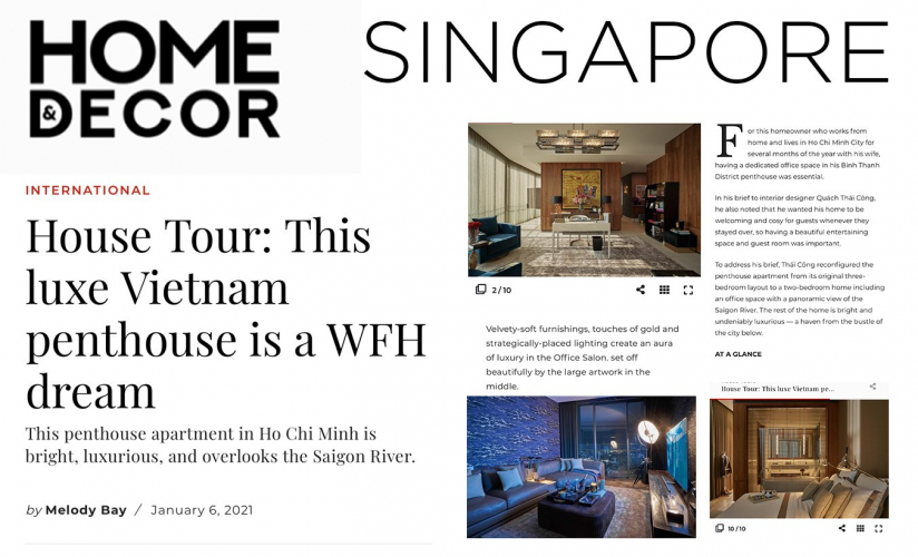 House Tour: This luxe Vietnam penthouse is a WFH dream